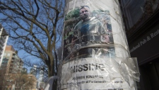 A worn missing poster for Andrew Kinsman