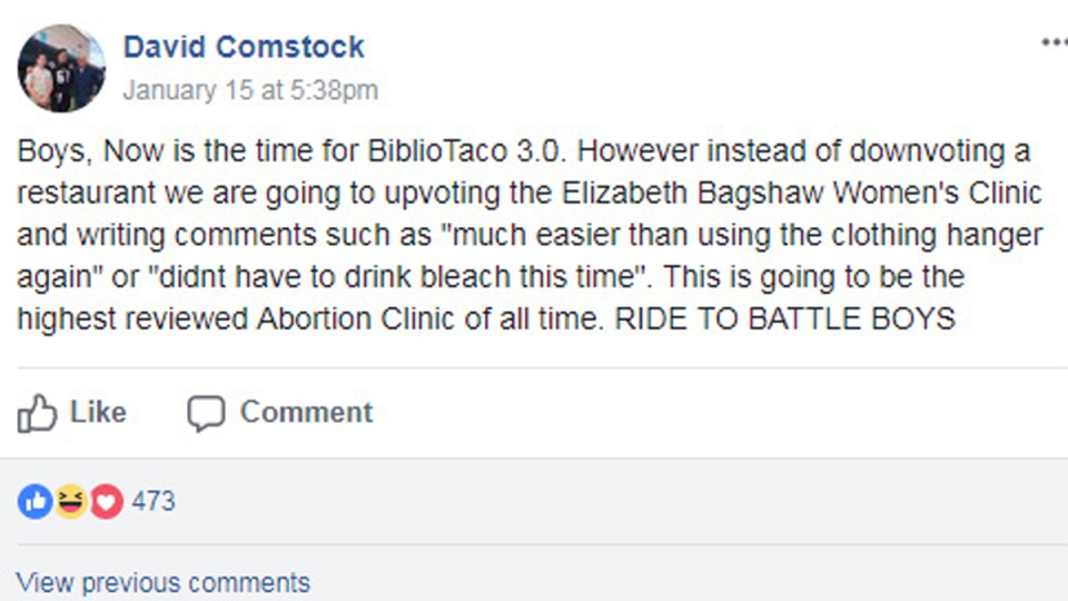 A message on the HimPower Facebook group, calling for 'BiblioTaco 3.0' (source: Facebook)
