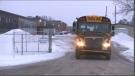 Bus drops high school students off at South Carleton Public High School