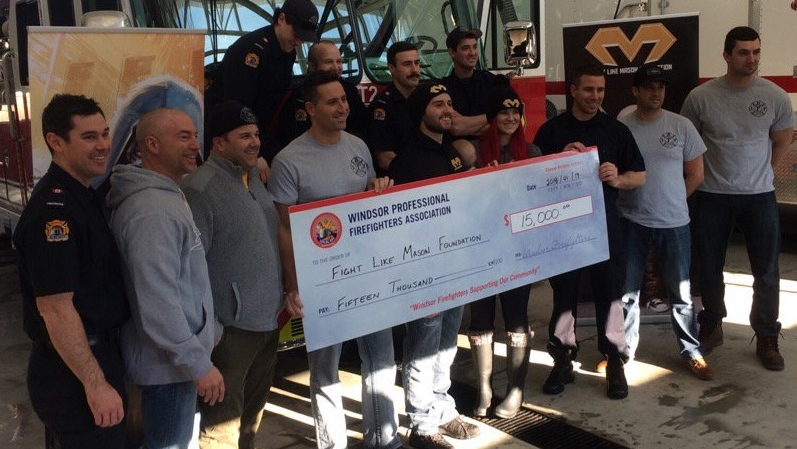 Firefighters' donation