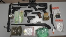 Waterloo Regional Police say these items were seized from a home on Century Hill Drive in Kitchener. (Waterloo Regional Police)