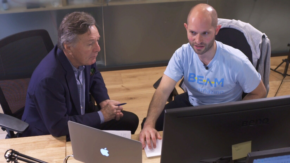 CTV's Paul Workman with Beam founder Alex Stephany (right).