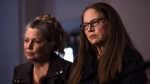 Patricia Kinsman, left, and Karen Coles, sisters of the missing and murdered Andrew Kinsman, speak to media at the 509 Church Street Community Center in Toronto after the court appearance of Bruce McArthur on Friday, January 19, 2018. (THE CANADIAN PRESS / Aaron Vincent Elkaim)