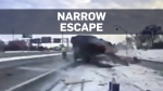 Tow truck driver narrowly escapes death