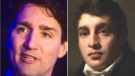 Prime Minister Justin Trudeau, left, most closely resembles Henry Raeburn's 'Ritratto,' according to Google's Arts & Culture App. (Source: Google Arts & Culture)