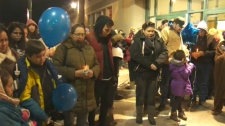 More than 100 people gathered outside Westbrook Mall on Friday night to honour the memory of Darby Chase Shade (Soop)