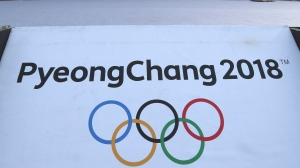 A 2018 Pyeongchang Games sign is seen at the Imjingak Pavilion in Paju, South Korea, Friday, Jan. 19, 2018. (Lee Jin-man/AP Photo)