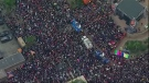 Aerials of Women's March across the U.S.