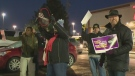 Protesters fed up with Tim Hortons cutbacks