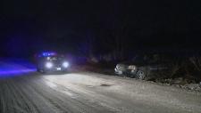 Veering for deer leaves driver in hospital