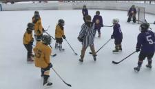 West Carleton Outdoor Hockey League teams play in Constance Bay