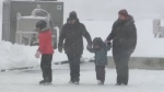 The Taste of Winter Festival started with light snow falling in Sydney, N.S., Saturday, Jan. 20, 2018.