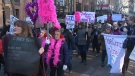 Thousands of people took part in Women's March YYC in downtown Calgary on Saturday, January 20, 2018.