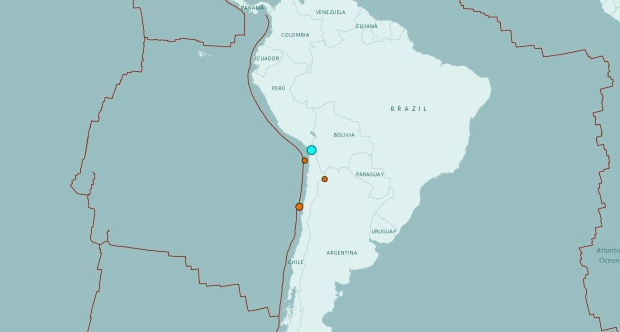 Chile earthquake (USGS map)