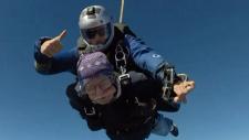 Grandpa soars to celebrate turning 90
