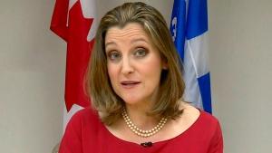 CTV QP: Freeland on state of NAFTA talks