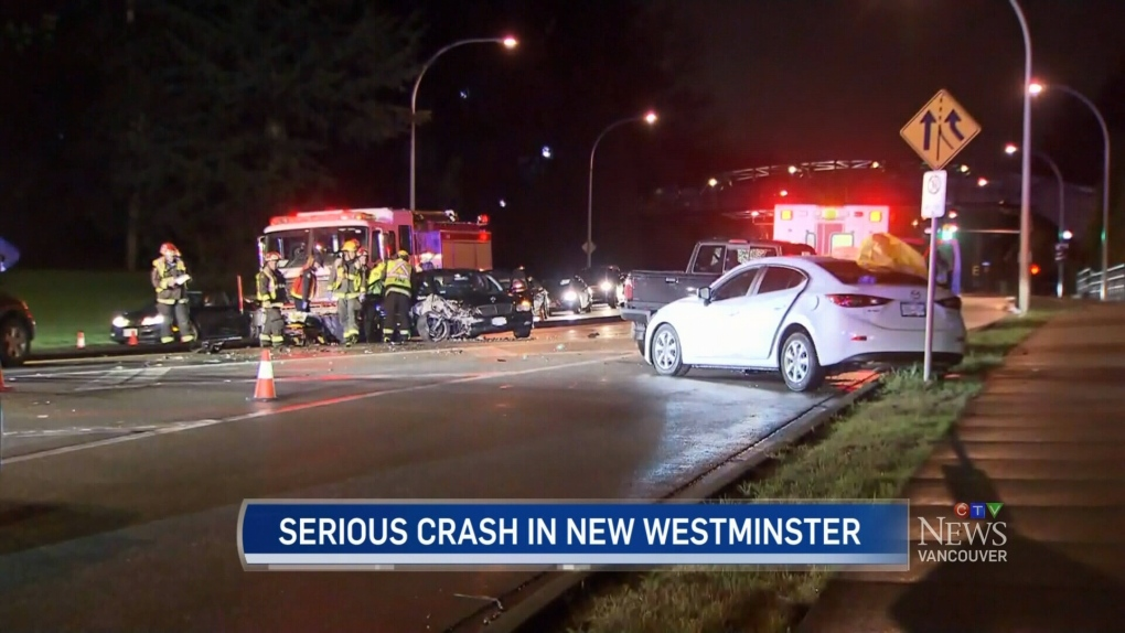 Serious crash in New Westminster | CTV News