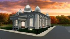 This rendering shows the proposed new temple for the Cambridge Hindu Society.