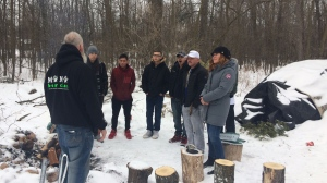 Human kindness was in action in Winnipeg Sunday as Olympian and humanitarian Clara Hughes took a tour with Ogijiita Pimatiswin Kinamatwin (OPK). (Beth Macdonell/CTV Winnipeg)