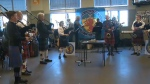 The Calgary Drop-In Centre was filled with Scottish food, dancing and music for the Robbie Burns Day celebration on Sunday.