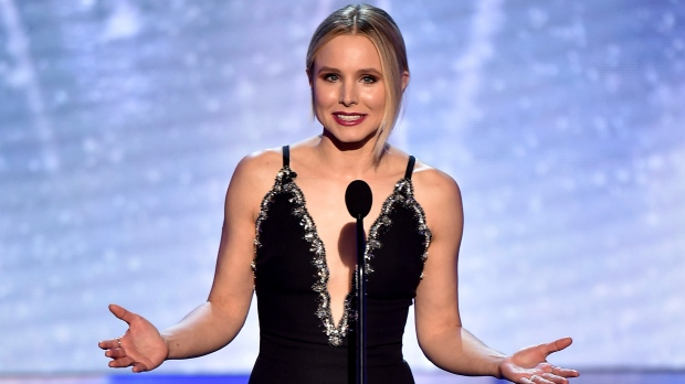 Host Kristen Bell speaks on stage at the 24th annual Screen Actors Guild Awards at the Shrine Auditorium & Expo Hall on Sunday, Jan. 21, 2018, in Los Angeles. (Photo by Vince Bucci / Invision / AP)