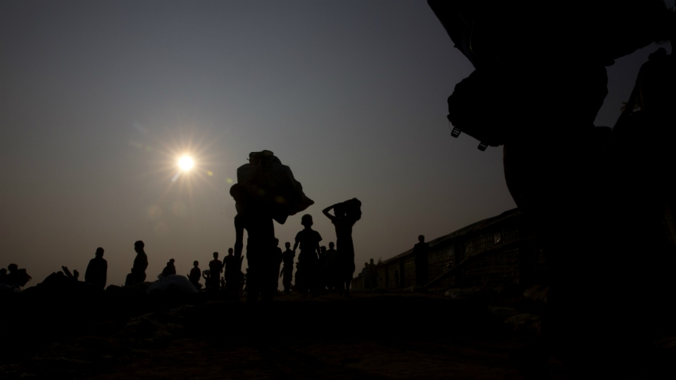Rohingya refugees with their belongings arrive at the Balukhali refugee camp 50 kilometres from, Cox's Bazar, Bangladesh on Wednesday, Jan. 17, 2018. (AP Photo/Manish Swarup)