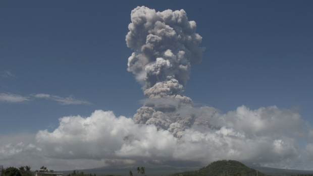 Philippines authorities raise alert level after volcano explodes