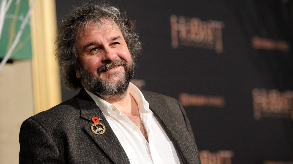 Peter Jackson arrives at a Los Angeles premiere