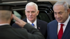 Mike Pence and Benjamin Netanyahu in Jerusalem