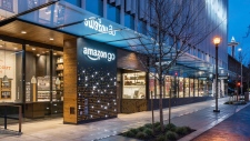 This undated image provided by Amazon shows an Amazon Go store in Seattle. More than a year after it introduced the concept, Amazon is opening its artificial intelligence-powered Amazon Go store in downtown Seattle on Monday, Jan. 22, 2018. (Amazon via AP)