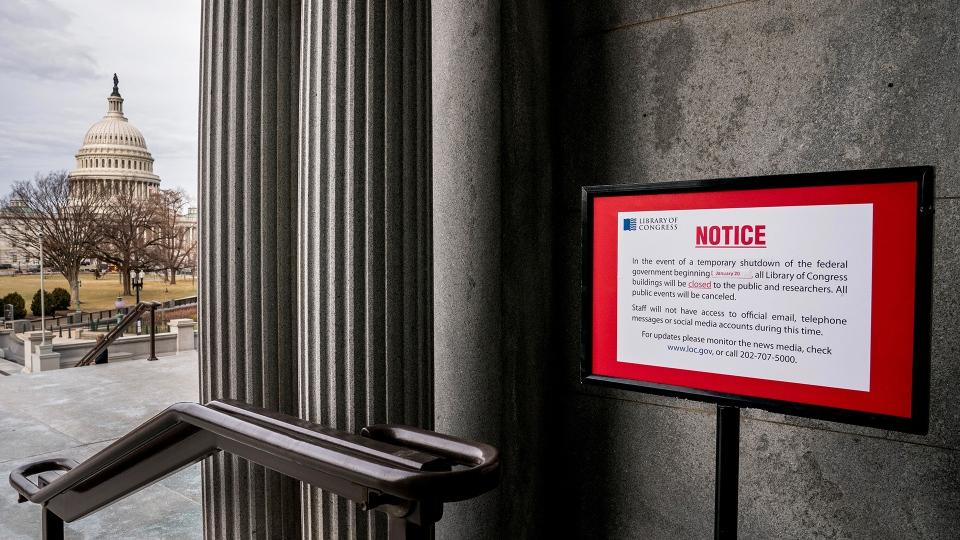 With U.S. Senate talks falling short, government shutdown enters workweek