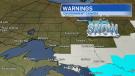 Snowfall warnings for Northern Ontario