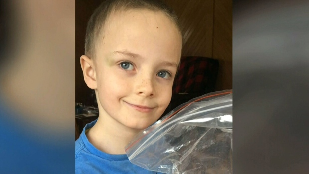 Mason Grant, 7, is seen in this undated image.