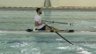Charles Alexander training for rowing championship