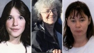 Shelly Ann Bacsu, Stephanie Stewart and Deanna MacNeil are seen in a composite image, photos supplied by RCMP.