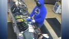 Fort Sasktachewan RCMP said this man robbed a local convenience store Monday morning.