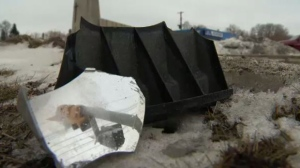 CTV News observed several pieces of debris at the corner Monday.