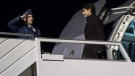 Prime Minister Justin Trudeau arrives Monday, January 22, 2018 in Zurich to attend the Davos Economic Forum. (Paul Chiasson/THE CANADIAN PRESS)