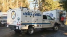 Around 35 members of Campbell River Search and Rescue scoured the area around Woods Creek after a father and daughter were swept away by fast-moving waters Sunday. Jan. 22, 2018. (CTV Vancouver Island)