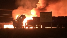 port coquitlam rail yard fire