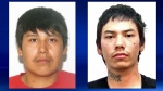 Police issued warrants for Christian Whitebear and Matthew Crane-Watchmaker (Courtesy: Calgary Police Service)