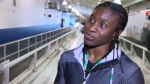 Simidele Adeagbo, who will represent Nigeria in skeleton in Pyeongchang ,is doing some final training in Calgary