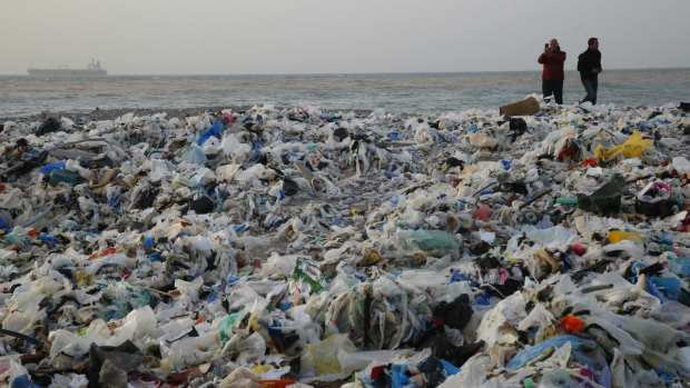 garbage on the beach flood of waste stirs uproar in lebanon ctv news