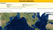 Tsunami warning lifted in B.C., Alaska
