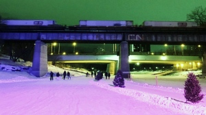 A lovely evening spent skating the Red River at The Forks. Photo by Marsha Ostertag.