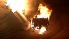 Railyard fire extinguished after hours-long battle