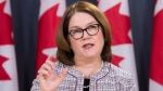 Indigenous Services Minister Jane Philpott speaks during a news conference in Ottawa, Tuesday January 23, 2018. THE CANADIAN PRESS/Adrian Wyld
