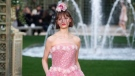 A model wears a creation for the Chanel Haute Couture Spring-Summer 2018 fashion collection presented in Paris, Tuesday, Jan. 23, 2018. (AP Photo/Francois Mori)
