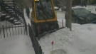 montreal, winter, sidewalk, snow, plow