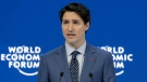 Justin Trudeau, Prime Minister of Canada, looks to the audience during his special address on corporate responsibility and the role of women in a changing world during the annual meeting of the World Economic Forum in Davos, Switzerland, Tuesday, Jan. 23, 2018. (AP Photo/Markus Schreiber)
